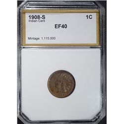1908-S INDIAN CENT, PCI EF