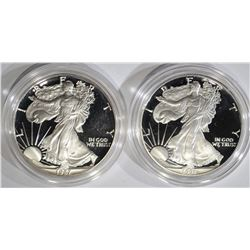 1987-S & 1991-S AMERICAN SILVER EAGLE DOLLARS