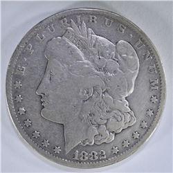 1882-CC MORGAN SILVER DOLLAR FINE