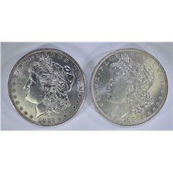 1882-O GEM BU & 1882 CH BU MORGAN DOLLARS