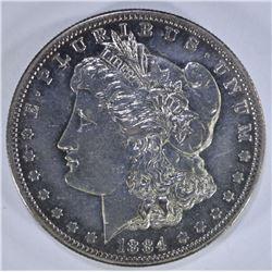 1884-S MORGAN SILVER DOLLAR CH AU