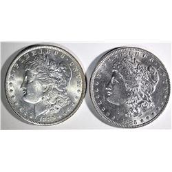 1885 CH BU & 1885-O GEM BU MORGAN DOLLARS
