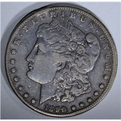 1890-CC MORGAN SILVER DOLLAR ABOUT XF