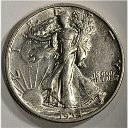 1934-S WALKING LIBERTY HALF DOLLAR