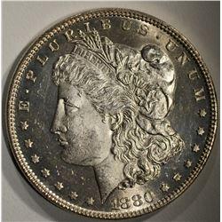 1880-O MORGAN DOLLAR CHBU+