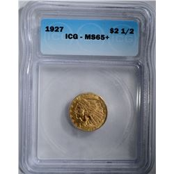 1927 $2.50 GOLD INDIAN ICG MS65+