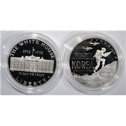 1991 U.S. KOREAN WAR MEMORIAL COIN PROOF