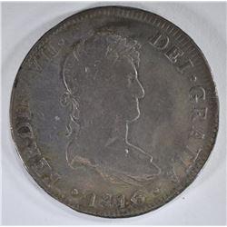 1816 MEXICO 8 REALES SILVER COIN