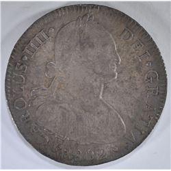 1802 MEXICO 8 REALES SILVER COIN