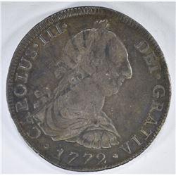 1772 MEXICO 8 REALES SILVER COIN