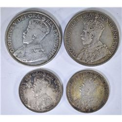2 - 1912 NEW FOUNDLAND 20c, 1917 50c