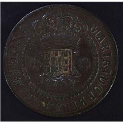 1787 20 REIS BRAZIL COIN