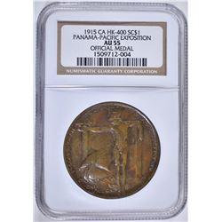 1915 SO CALLED $1 CA HK-400 NGC AU55