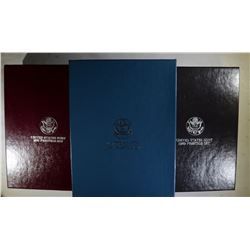 1987, 88 & 89 U.S. PRESTIGE PROOF SETS ORIG