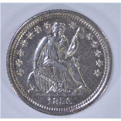1856-O SEATED HALF DIME, AU/BU