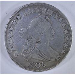 1806 DRAPED BUST HALF DOLLAR, XF