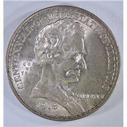 1918 LINCOLN COMMEM HALF DOLLAR, CH BU+