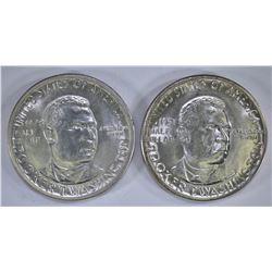 1948-D & 51 GEM BU B.T. WASHINGTON COMMEM HALVES