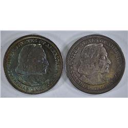 1-1892 & 1-93 COLUMBIAN COMMEM HALF DOLLARS, CH BU