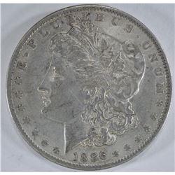 1886-O MORGAN DOLLAR, XF/AU