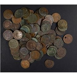 100-MIXED DATE INDIAN CENTS: MOST HAVE SOME ISSUES