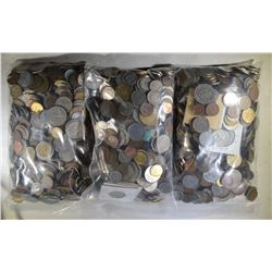OVER 20 POUNDS UNSEARCHED FOREIGN COINS