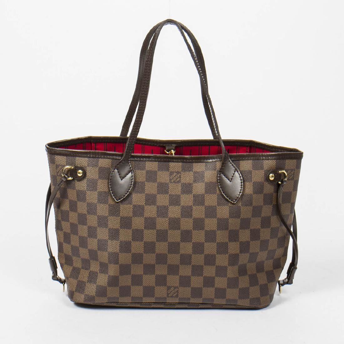 1698cf8d3198c Image 1   Louis Vuitton Neverfull PM in Brown Damier Ebene ...