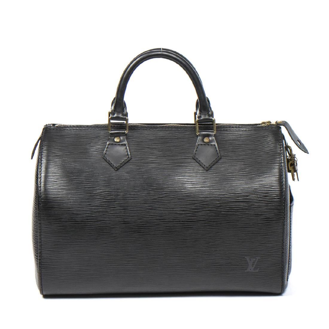 49c58c3ce19e Image 1   Louis Vuitton Speedy 30 in Black Epi ...