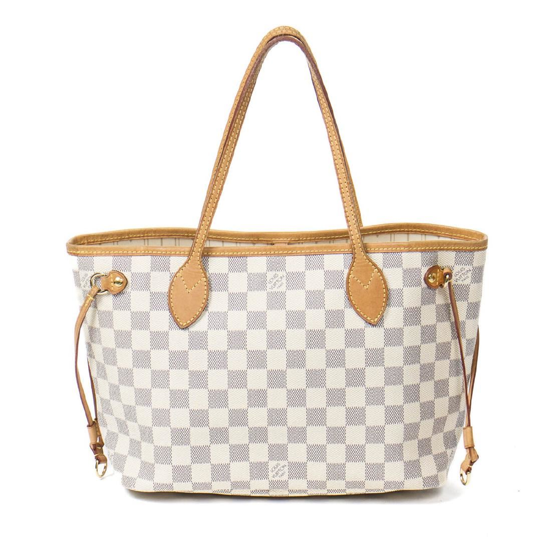 9acfeac354c7c Image 1   Louis Vuitton Neverfull PM in Ivory Damier Azur ...