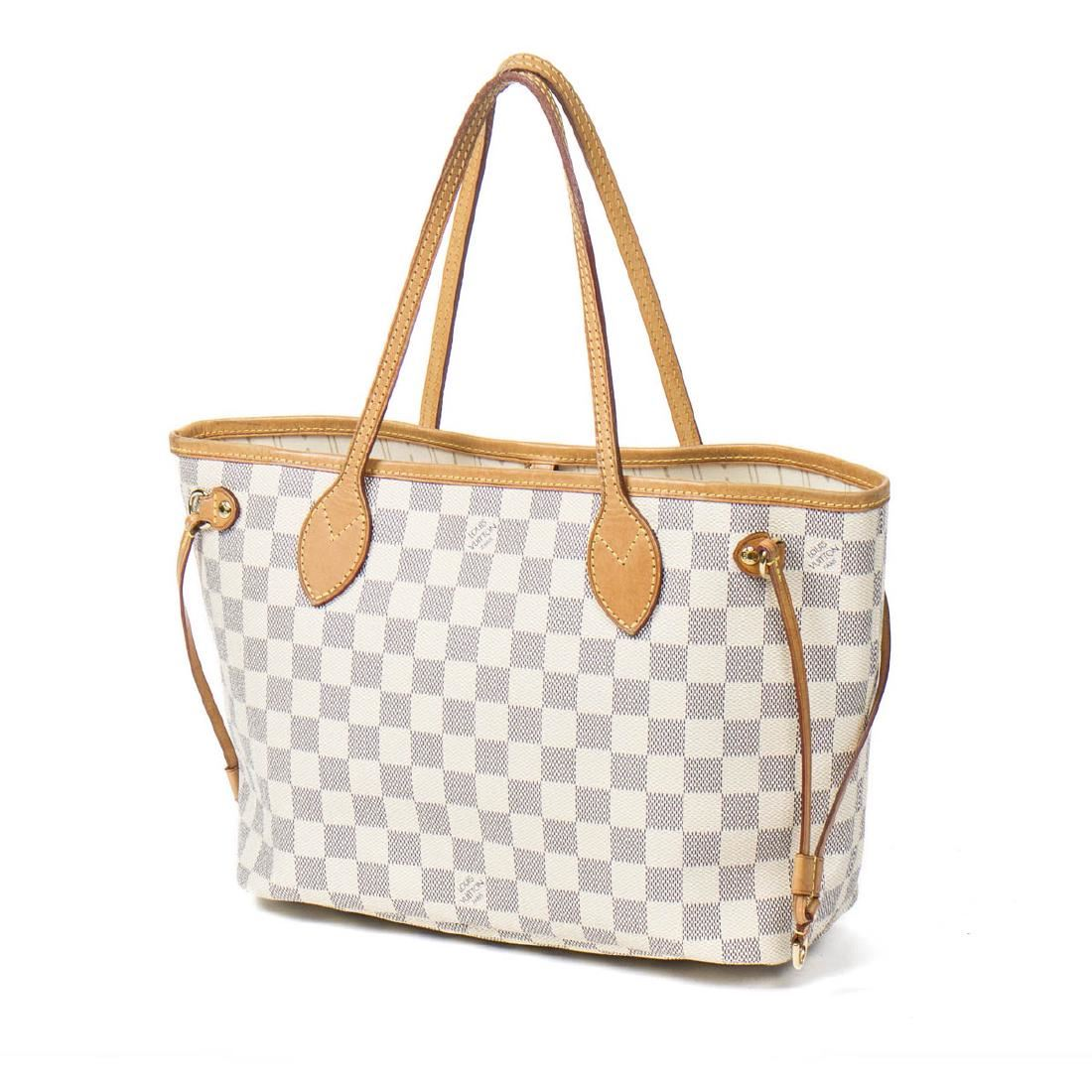 2f5ebcfad0 Louis Vuitton Neverfull PM in Ivory Damier Azur