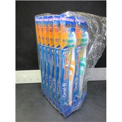 12 New Oral - B Toothbrushes factory sealed / classic soft