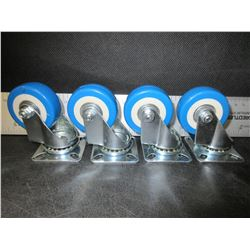 "set of 4 New Swivel Castors 2"" / ball bearing super quiet rolling"