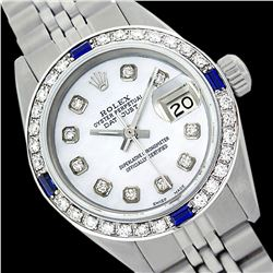 Rolex Ladies Stainless Steel, Diam Dial & Diam/Sapphire Bezel, Sapphire Crystal - REF-426H5W