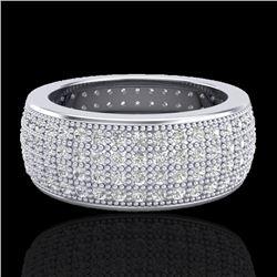 2.50 CTW Micro Pave VS/SI Diamond Eternity Ring 18K White Gold - REF-249T3M - 20883