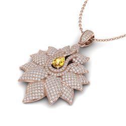 3 CTW Sapphire & Micro Pave VS/SI Diamond Designer Necklace 18K White Gold - REF-267A5X - 22570