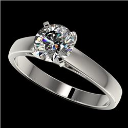 1.25 CTW Certified H-SI/I Quality Diamond Solitaire Engagement Ring 10K White Gold - REF-191M3H - 33