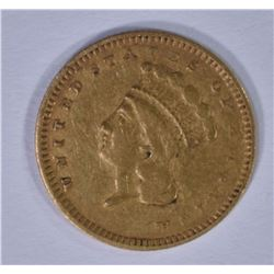 1857-S $1.00 GOLD, VF/XF