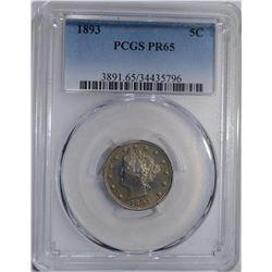 1893 LIBERTY NICKEL PCGS PR-65