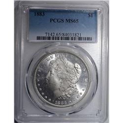 1883 MORGAN SILVER DOLLAR PCGS MS-65