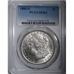 1885-O MORGAN SILVER DOLLAR PCGS MS-64