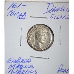 161-180 AD SILVER DENARIUS ROME