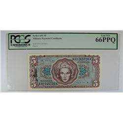 SERIES 651 $5 MILITARY PAYMENT CERTIFICATE