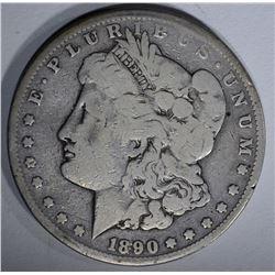 1890-CC MORGAN SILVER DOLLAR VG