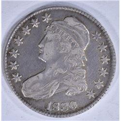1830 BUST HALF DOLLAR ABOUT XF