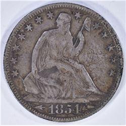 1854-O ARROWS SEATED HALF DOLLAR VF