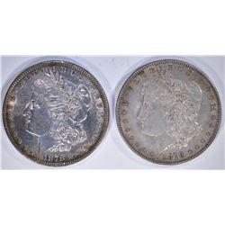 1878 7TF AU+ & 1878-S AU MORGAN