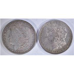 1878 8TF & 1887-O MORGAN DOLLARS