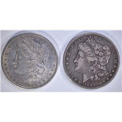 1880-O AU & 1894-O FINE few marks