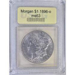 1896-O MORGAN DOLLAR USCG CHBU