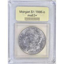 1886-O MORGAN DOLLAR USCG CHBU+